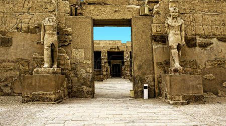 Ruins of Karnak in Egypt