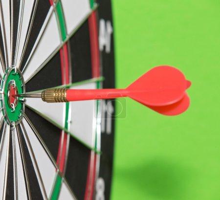 Darts arrow in  target