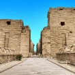 Ancient ruins of Karnak temple in Egypt...