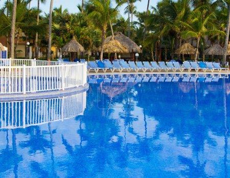 Swimming pool in Caribbean