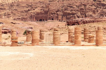 Rock formations in Petra
