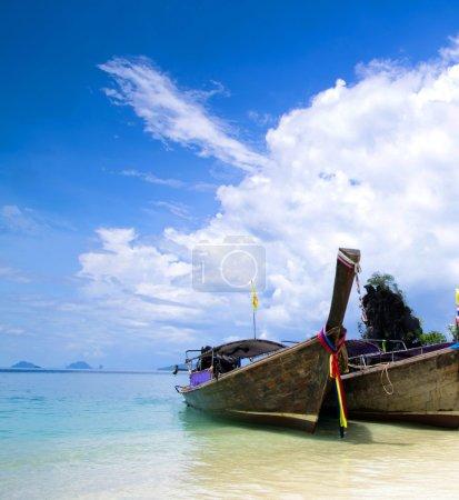 Boats in Andaman Sea, Thailand