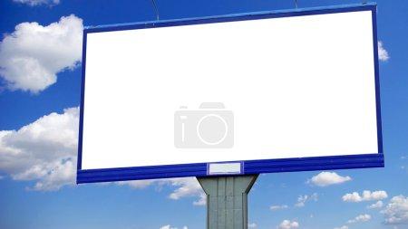 Advertising billboard on sky