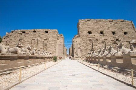 ruins of Karnak temple in Egypt