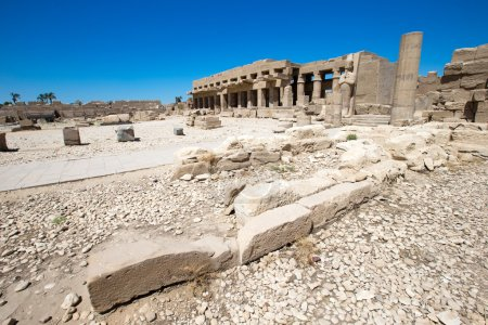 ruins of Karnak temple in Egypt