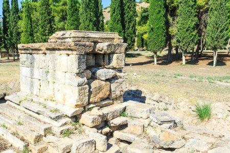 Ancient ruins in Hierapolis Pamukkale