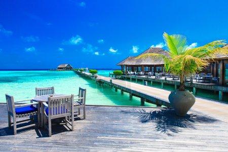 White tropical beach in Maldives
