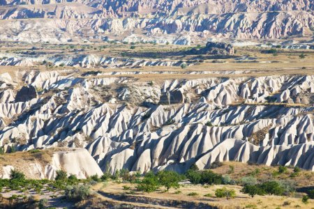 A geological formation consisting of volcanic tuff.