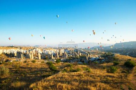 balloons flying over the cappadocia