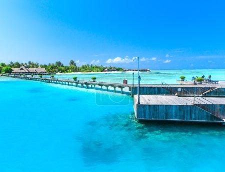 Beach with blue lagoon