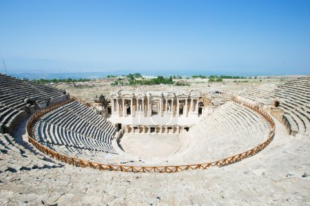 View of Amphitheater in Pamukkale
