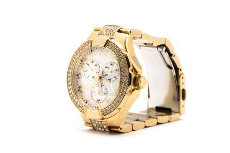 Golden luxury watch