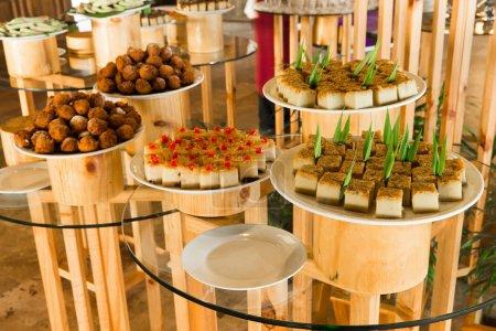 variety of tasty cakes