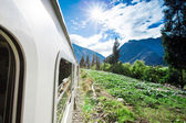 Train going to Machu Picchu