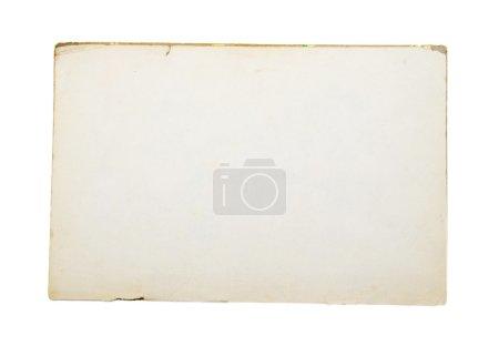 Photo pour Vieux papier blanc isolé sur fond blanc - image libre de droit