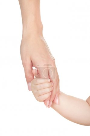 Female hand with hand of child