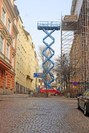 Helsinki, Finland - April, 4, 2016: construction l...