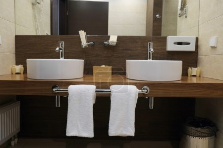 Interior of  hotel bathroom