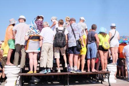 Sevastopol, Crimea, July, 26, 2015: citizens durin...