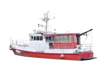 Boat isolated under the white background