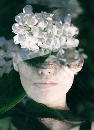 Floral woman  portrait