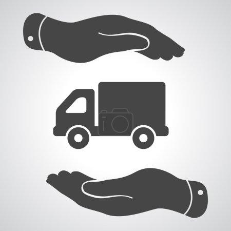 Flat truck pictogram