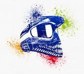 Helmet poster - rasterized vector
