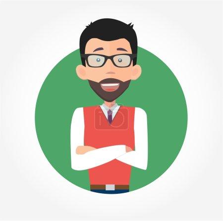 Businessman in glasses smiling