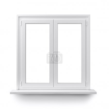 Photo for White window isolated on clean white background. - Royalty Free Image