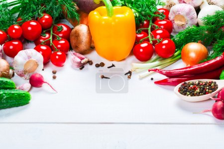 Beautiful background healthy organic eating