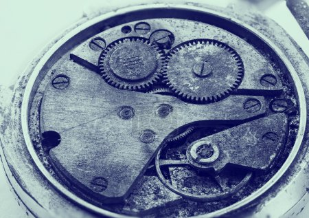 Clockwork details, pinions and wheels