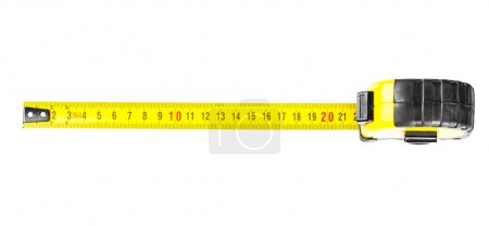 Close-up of yellow tape measure