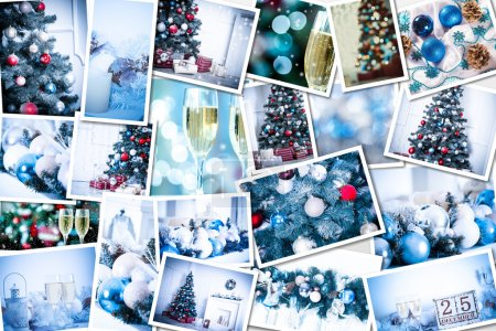 Christmas holiday collage