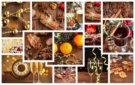 Christmas holiday collage