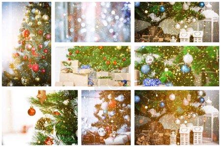 Foto de Navidad vacaciones festivo collage fondo - Imagen libre de derechos