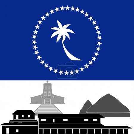 National flag of Truk and architectural attractions