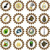 Icon set oil industry Illustration on white background