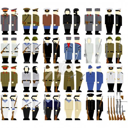 Soviet soldiers and weapons since the second World War