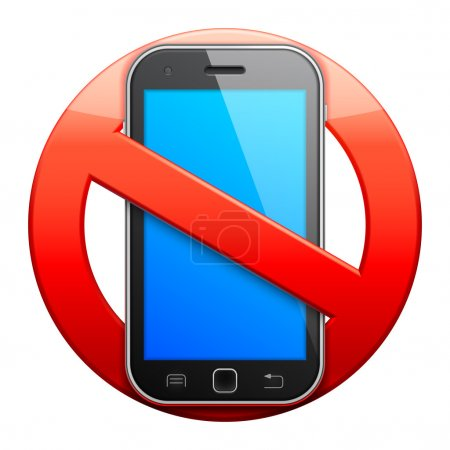 No cell phone sign.
