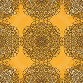 Seamless Oriental Pattern Based on Hand-drawn mandala flower.