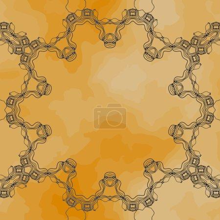 Round mandala frame