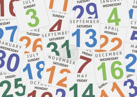 Sheets of a calendar. Background