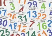 Sheets of a calendar Background for you design