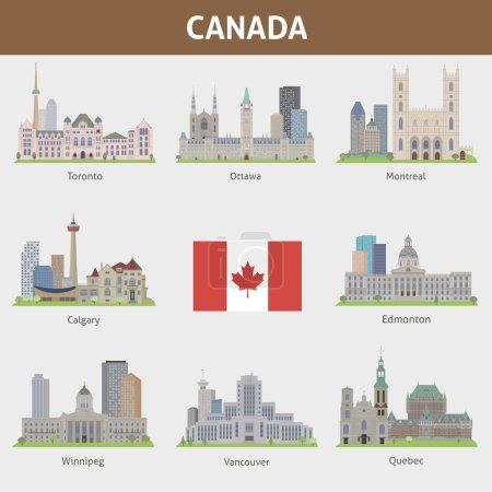 Photo pour Lieux célèbres des grandes villes du Canada - image libre de droit