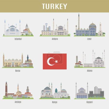 Photo pour Les villes de Turquie. Lieux célèbres Villes turques - image libre de droit