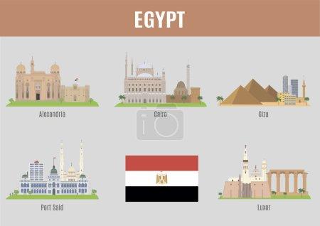 Photo pour Les villes d'Egypte. Lieux célèbres Egypte villes - image libre de droit