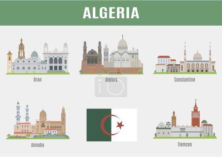 Photo pour Villes en Algérie. Lieux célèbres Villes algériennes - image libre de droit
