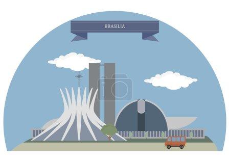 Brasilia, Brazil. Famous places