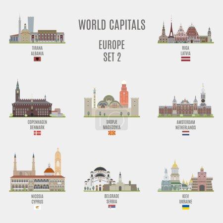 World capitals.Famous Places