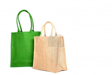 Photo for Shopping bags made out of recycled Hessian sack - Royalty Free Image